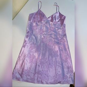 Jones New York Ladies' Purple Flowered Slip Size S